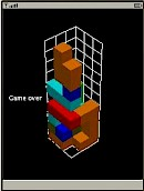 3DTetris Game Over